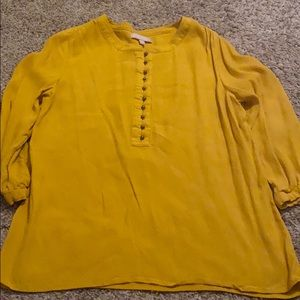 Cute mustard 3/4 sleeve top